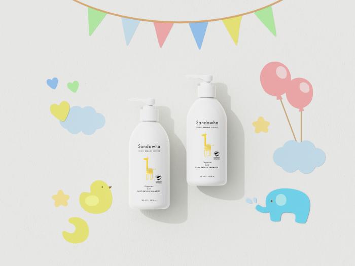[Sandawha Orgacare Soft Baby Bath and Shampoo] Images3